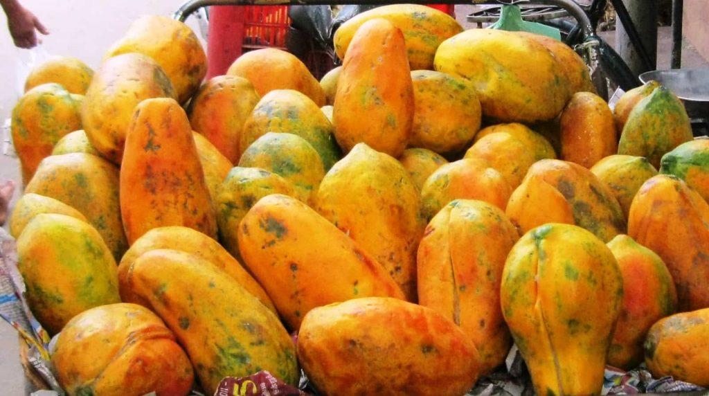 Papaya market on Madagascar