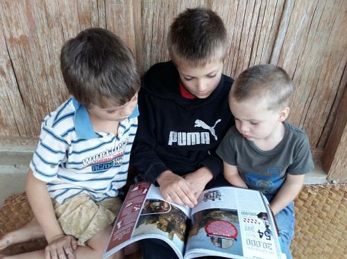 De kinderen zij leergierig