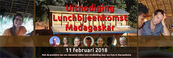 Uitnodiging Lunchbijeenkomst Madagaskar van Jurgen en Katja