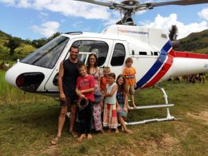 Even een bezoek van de helikopter